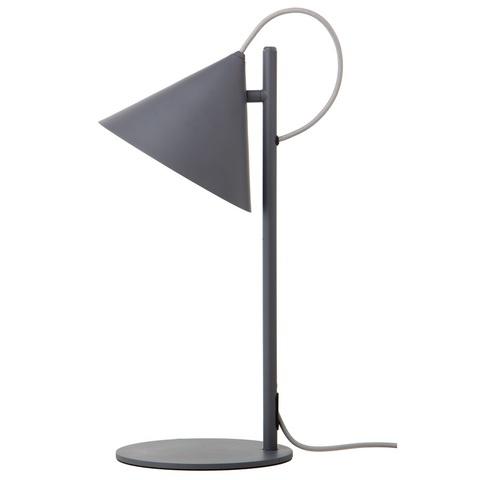 Лампа настольная Benjamin, серая матовая, серый шнур