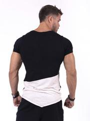 Мужская футболка Nebbia 142 black/light brown