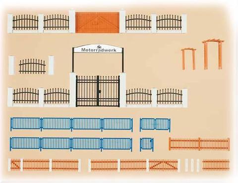 Заборы и ворота - 3 вида, (H0/TT)