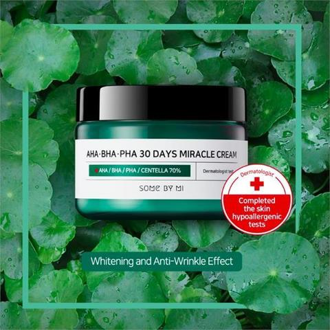 Крем с кислотами для проблемной кожи, 50 мл / Some By Mi AHA/BHA/PHA 30 Days Miracle Cream