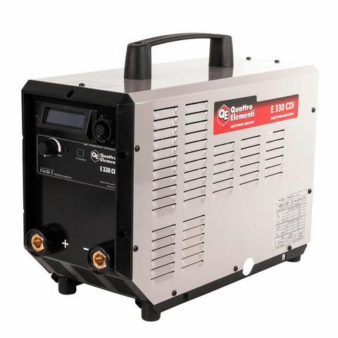 Аппарат электродной сварки, инвертор QUATTRO ELEMENTI E 330 (320 А, ПВ 100%, до 6 мм, Дисп (641-725)