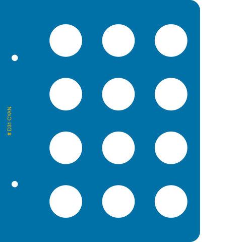 Лист для монет диаметром 31 мм для альбома «Памятные монеты Республики Казахстан из недрагоценных металлов»