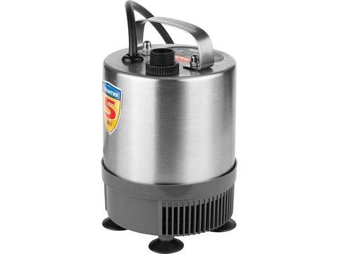 Насос фонтанный, ЗУБР ЗНФЧ-29-2.3-C, нерж сталь, для чистой воды, напор 2,3 м, насадки: колокольчик, гейзер, каскад, 50Вт, 29 л/мин