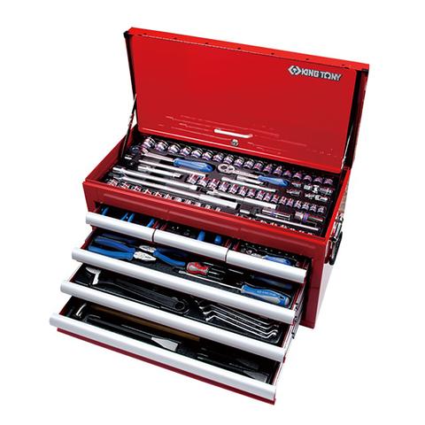 KING TONY (911-000CR) Набор инструментов универсальный, выдвижной ящик, 219 предметов