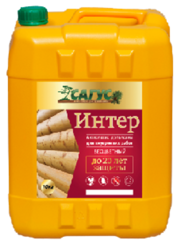 САГУС ИНТЕР антисептик для древесины для внутренних работ