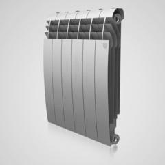 Радиатор биметаллический Royal Thermo Biliner Silver Satin 350 (серебристый)  - 4 секции