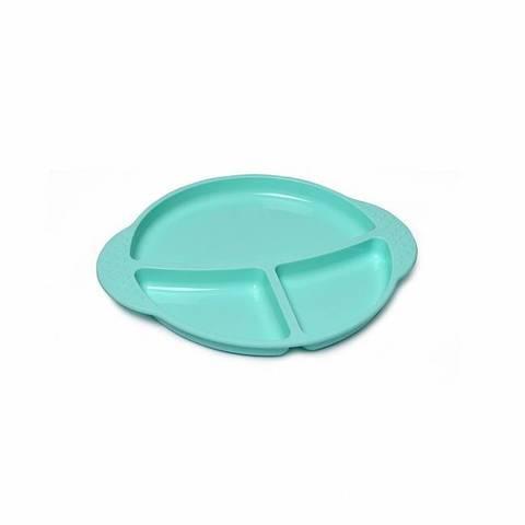 9591 FISSMAN Kids Тарелка силиконовая с разделителем 25х21 см,  купить