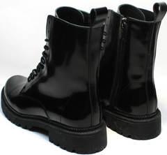 Черные кожаные ботинки зимние с мехом женские Ari Andano 740 All Black.