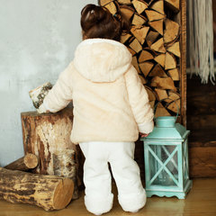 Папитто. Комплект утепленный куртка и брюки, беж/экрю вид 8