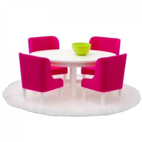 Набор мебели для домика Lundby Смоланд. Обеденная группа в малиновых тонах 60208000