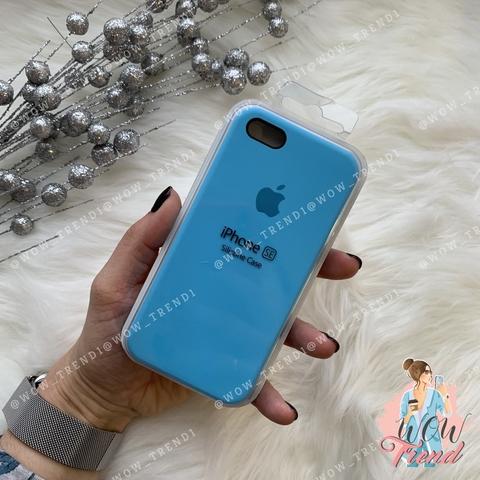 Чехол iPhone 5/5s/SE Silicone Case /blue/ ярко-голубой 1:1