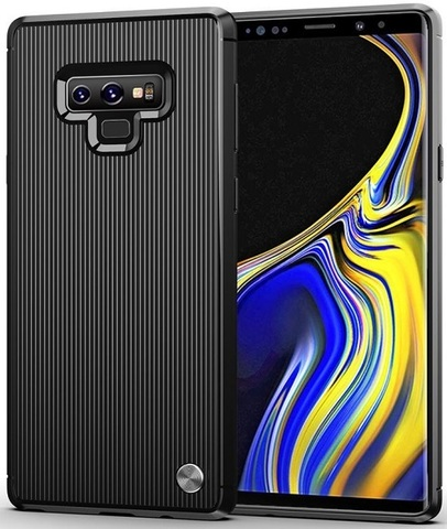 Чехол Samsung Galaxy Note 9 цвет Black (черный), серия Bevel, Caseport