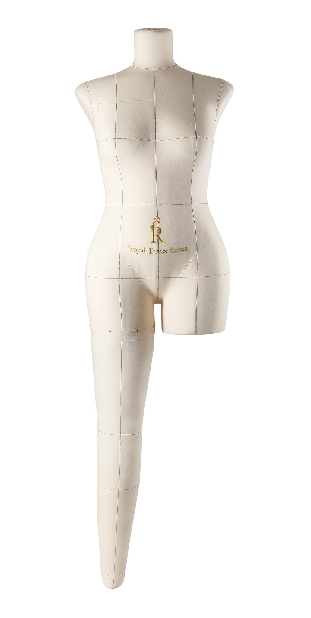 Нога бежевая для манекена Моника, 46 размер