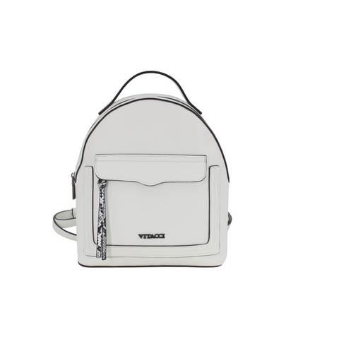 Белый рюкзак с накладным карманом