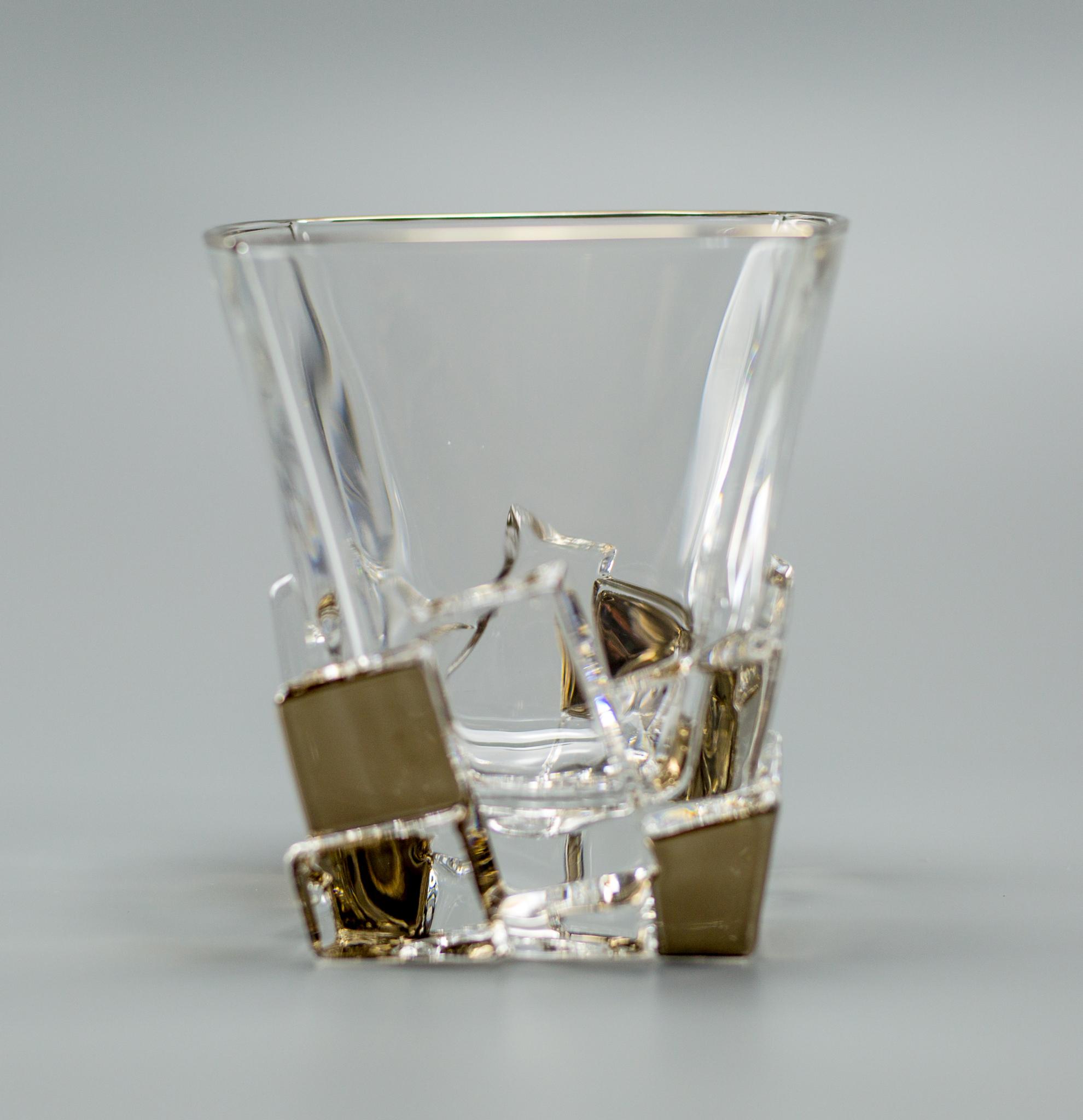 Набор стаканов для виски «Ice gold», 6 шт набор стаканов для виски 6 шт bohemia набор стаканов для виски 6 шт