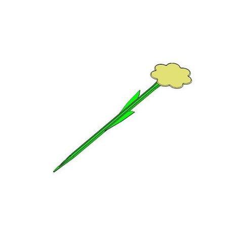 Бирка для рассады Цветок наклонная 40 см