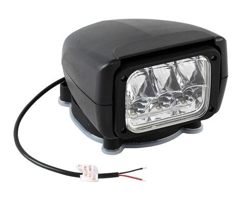 Прожектор светодиодный стационарный, с беспроводным пультом ДУ, 12 В, черный (серия 150)