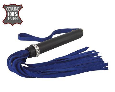 Сине-черная многохвостая плеть  Гламур  - 41 см.