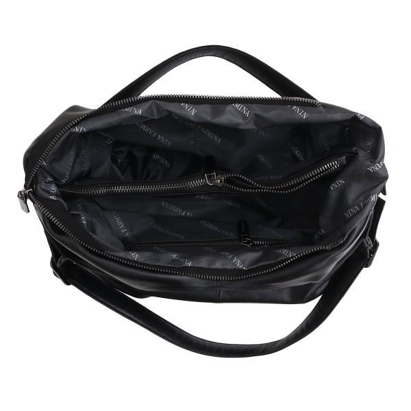 Женская сумка из кожи Nina Farmina NF3black