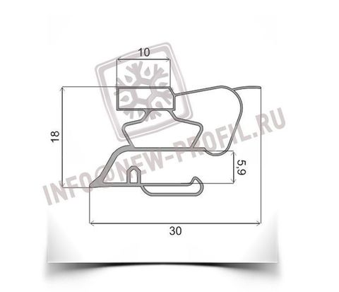 Уплотнитель 28*55 см для  холодильника Норд  DXM 184-7(средняя камера) Профиль 015