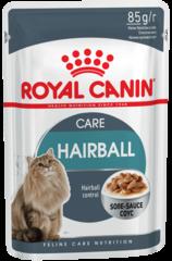 Пауч для кошек, Royal Canin Hairball Care, склонных к развитию мочекаменной болезни, (в соусе)