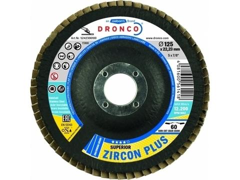 Лепестковые шлифовальные диски Superior Zircon Plus 60 Bomb 180x22,23mm