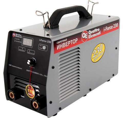 Аппарат электродной сварки, инвертор QUATTRO ELEMENTI i-FORCE 230 (230A, ПВ 60%, до 5 мм,  (771-619)