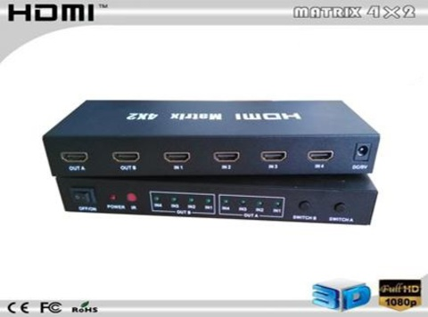 HDMI Matrix HDMI 4 x 2 свитчер (делитель) HDMI 4 2 HDMI, Матрица 4*2