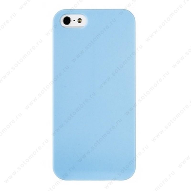 Накладка REMAX для iPhone SE/ 5s/ 5C/ 5 матовая голубая