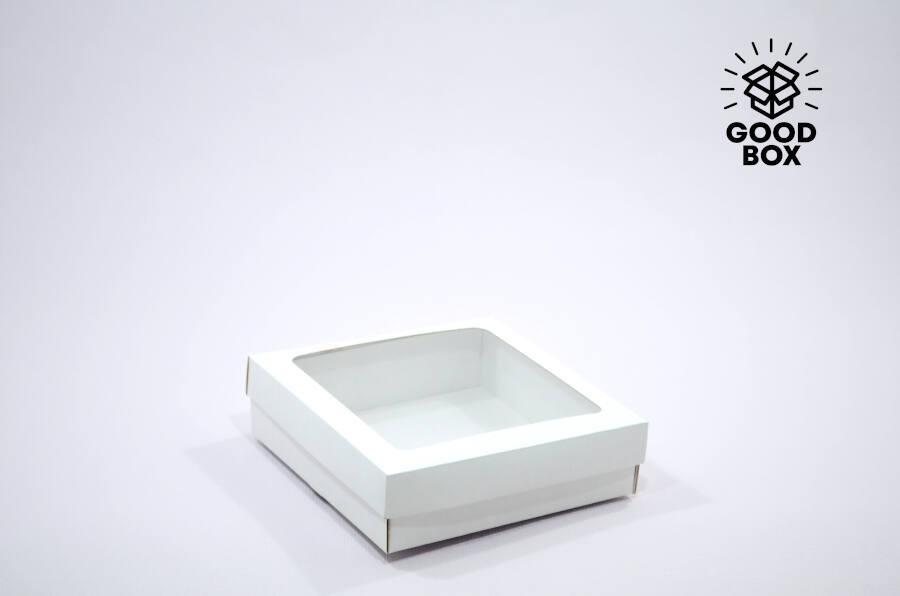 Низкая подарочная коробка с окошком купить в Алматы