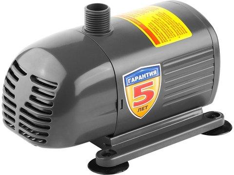Насос фонтанный, ЗУБР ЗНФЧ-25-2.0, для чистой воды, напор 2,0 м, насадки: колокольчик, гейзер, каскад, 38 Вт, 25 л/мин