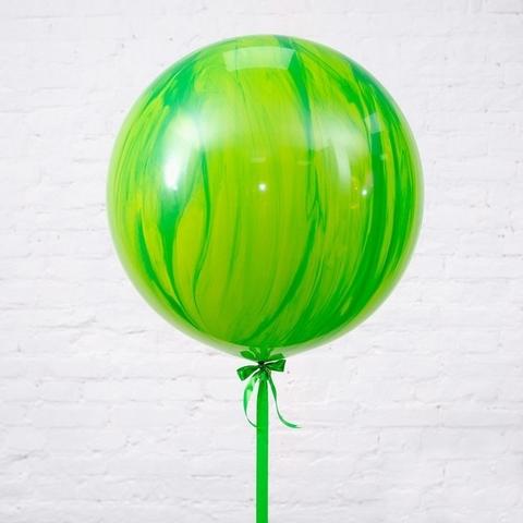 Большой шар-гигант Агат зеленый
