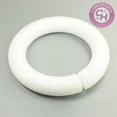 Венок кольцо из пенопласта 19 см, округлое, 1 шт.