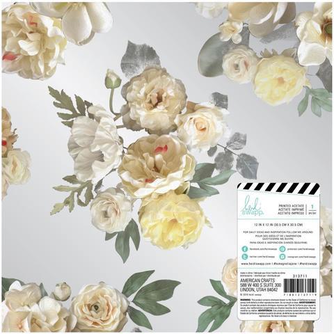 Ацетатный лист Heidi Swapp Magnolia Jane Acetate 30х30см