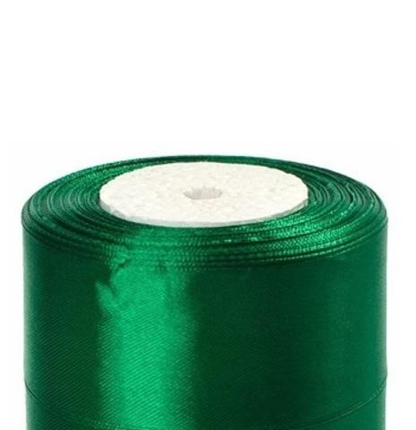 Лента атласная (размер:40мм х 25 ярдов) Цвет:зеленый