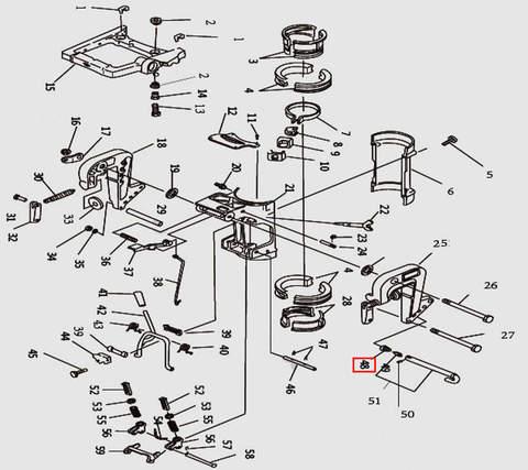 Пружина коническая для лодочного мотора T9.8 Sea-PRO (11-48)