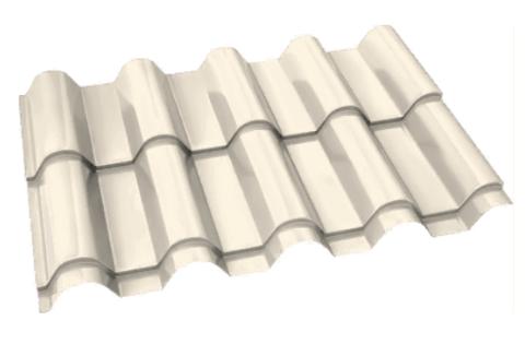 Металлочерепица Банга Полиэстер RAL 1015 Слоновая кость 0,45 мм
