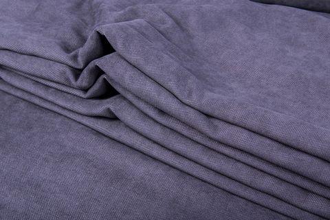 Штора готовая однотонная из портьерной ткани | цвет: пурпурно-синий