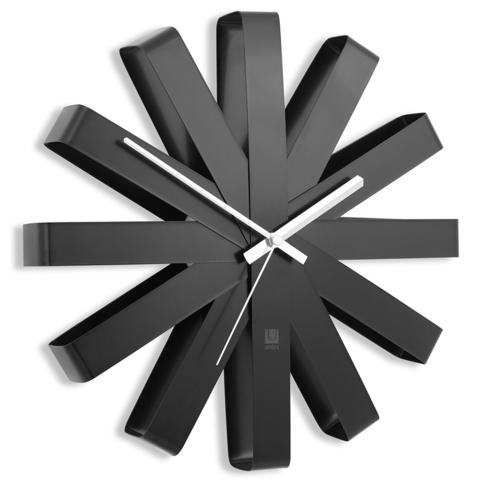 Часы настенные Ribbon чёрныe
