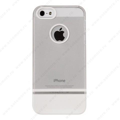 Накладка MOBILE 7 для iPhone SE/ 5s/ 5C/ 5 белый верх белый низ