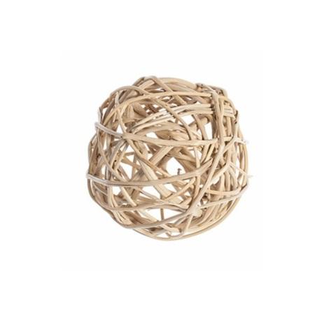 Плетеные шары из ротанга (набор:12 шт., d3см, цвет: натуральный)