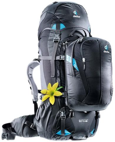 Картинка рюкзак для путешествий Deuter Quantum 60+10 Sl