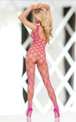 Комбинезон из струнной сеточки She-Cat розовый