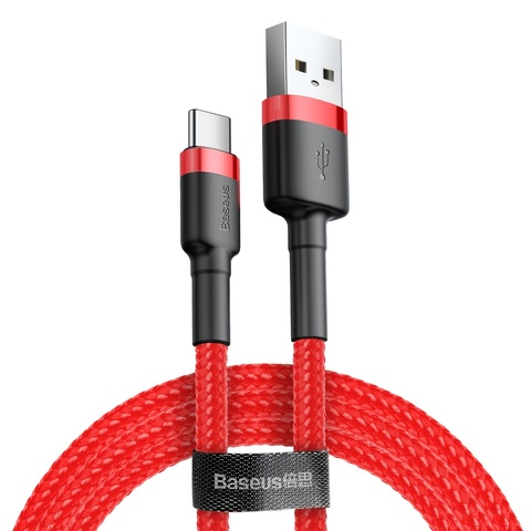Кабель Baseus cafule Cable USB For Type-C 3A 1M Red+Red