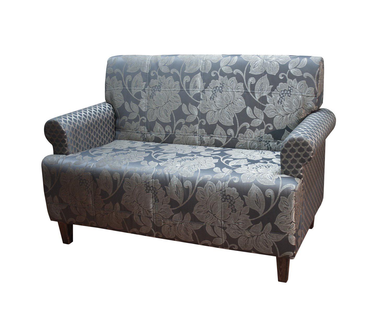 диван 2-местный Клерк, сочетание двух тканей