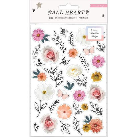 Стикеры 12х19см -All Heart от Crate Paper -314 шт