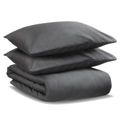 Постельное белье 1.5 спальное Tkano Wild сатин темно-серое