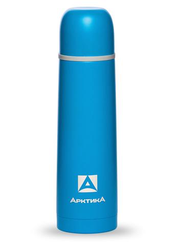 Термос Арктика (0,5 литра) с узким горлом пластиковый корпус, синий