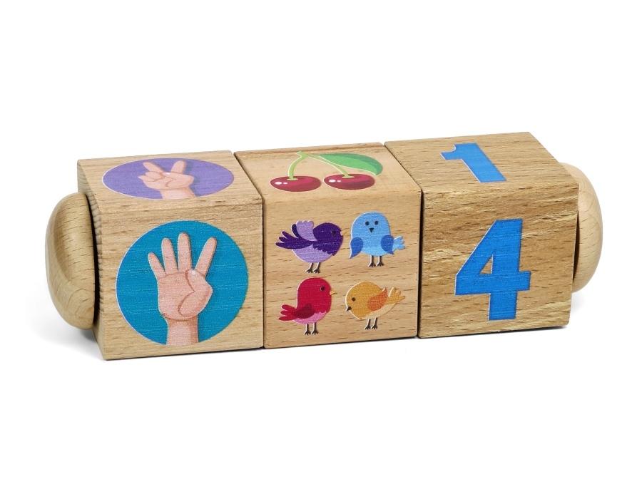 Кубики с картинками деревянные