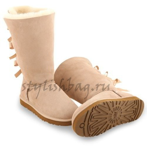 Женские угги UGG Bailey Bow Tall Sand